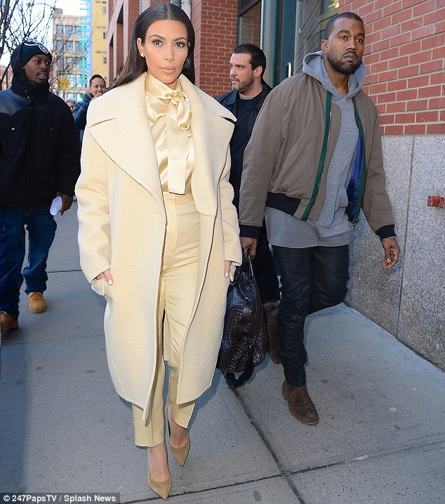 Looking good: Kim was accompanied by Kanye West, who has just wrapped up his successful Yeezus tour