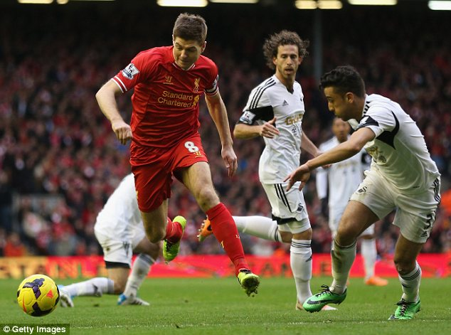 Offer: Young players were enticed by the prospect of training alongside the likes of Steven Gerrard