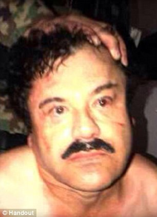 Got him: Joaquin 'El Chapo' Guzman, pictured, was arrested Saturday but days earlier he evaded authorities by escaping through the tunnels