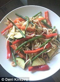 Stir frys are satisfying and contain hardly any calories