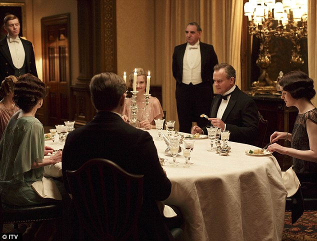 Downton Abbey is encouraging hosts to go back to old rules and traditions at the table, according to a new etiquette guide