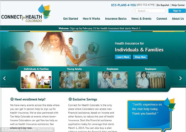 A typical U.S. insurance site, that allows citizens to sign up for medical and health insurance. Under Obamacare, the rules that exist to help them sign up are different in a way that tries to benefit those on lower incomes