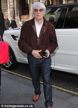 Making strides: Bernie Ecclestone in London last week