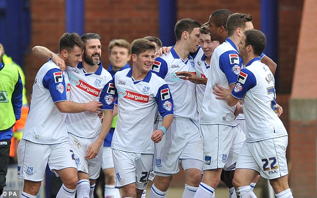 Victory: Tranmere beat Coventry 3-1 despite uncertainty about their future on and off the pitch