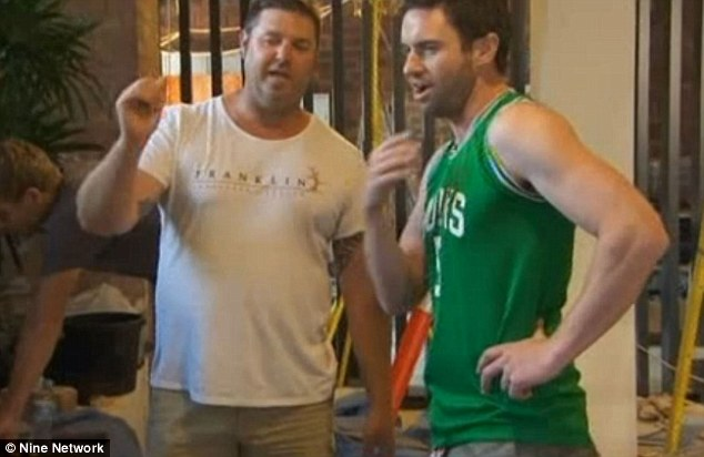 Workmen wars: Landscaper Dave lays into Steve accusing him of not pulling his weight in the communal project
