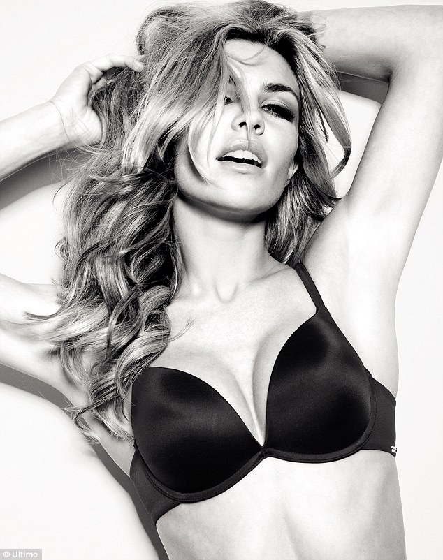 The mother-of-one showcases her incredible figure in an array of new Ultimo designs which went on sale last month