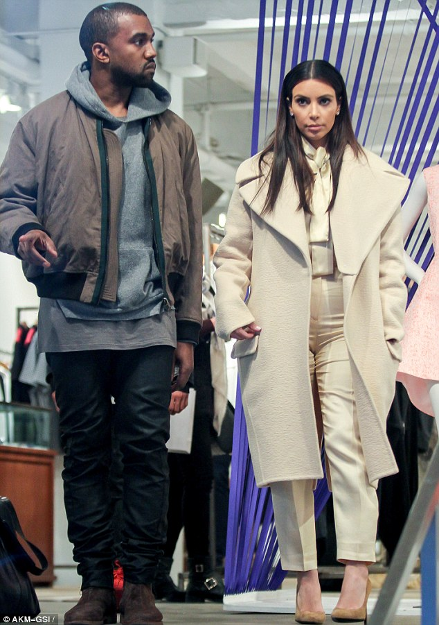 Retail therapy: The pair later went to Jeffrey New York for a spot of shopping