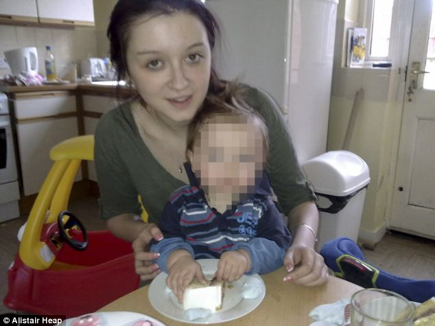 Separated: Charlotte with her child who was taken from her at the age of four