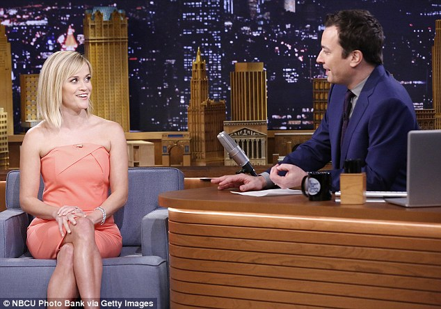 Star power: The 37-year-old kicked off Jimmy's second week in The Tonight Show hot seat on NBC