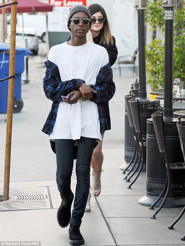 Just good friends? While Kylie has been linked to Jaden, she raised eyebrows when spotted out with this guy on Monday