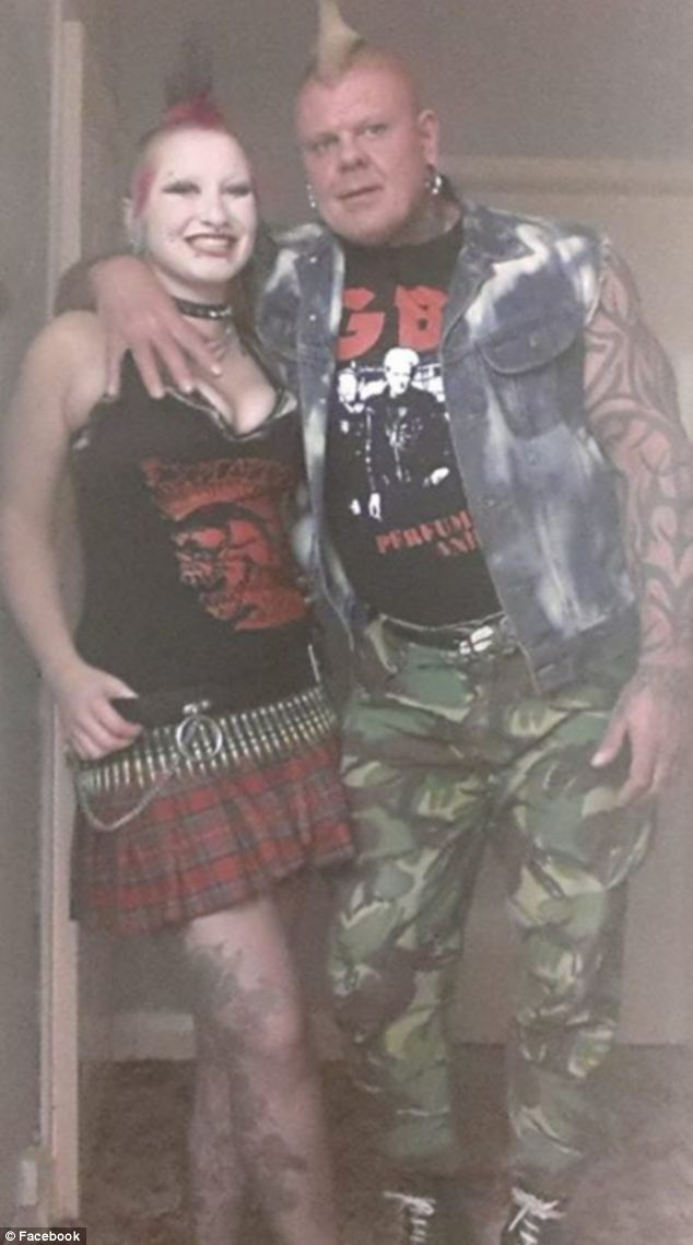 Ms Wildman, who has been with her partner Andy Bell (pictured) for 12 months, is now planning her wedding to the body builder - and says she wants to match her mohawk with her bridesmaids's dresses