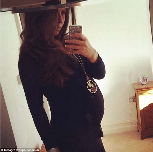 Selfie alert: Sophie-Leigh Adam, wife of Stoke midfielder Charlie, uploaded this photo of herself to Instagram which shows off her baby bump