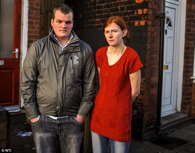 Benefit fraud: Mark and Becky, who live on James Turner Street, told programme makers they had their benefits stopped because of fraud