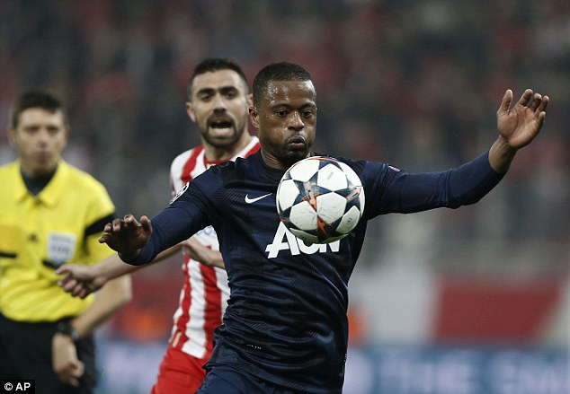 Experienced: Evra could play a key role at United next season with Vidic and Ferdinand both set to depart
