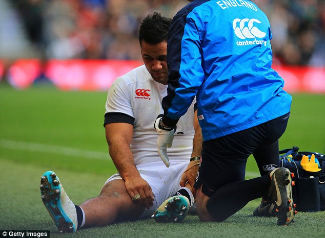 Ouch: Billy Vunipola is one of a long list of England players unavailable for Six Nations action due to injury