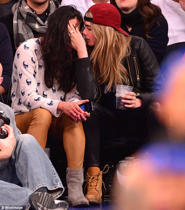 Blossoming relationship: Michelle and Cara debuted their romance last month at a New York Knicks game