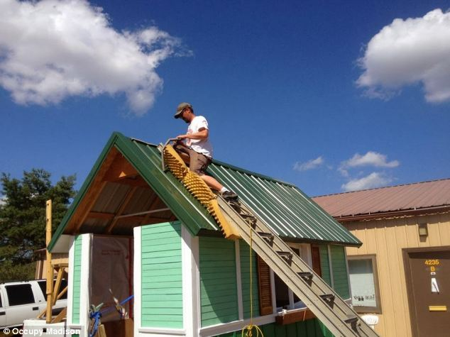 Occupy Madison Build are hoping to create a cluster of tiny houses to help the homeless