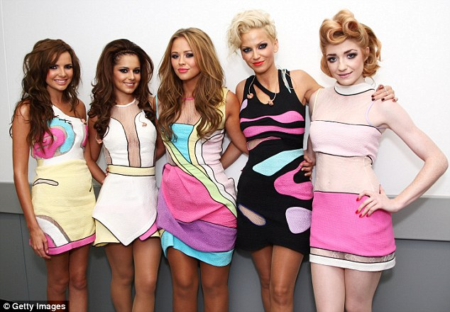 Fabulous five! Sarah and her Girls Aloud bandmates (L-R) Nadine Coyle, Cheryl Cole, Kimberley Walsh and Nicola Roberts