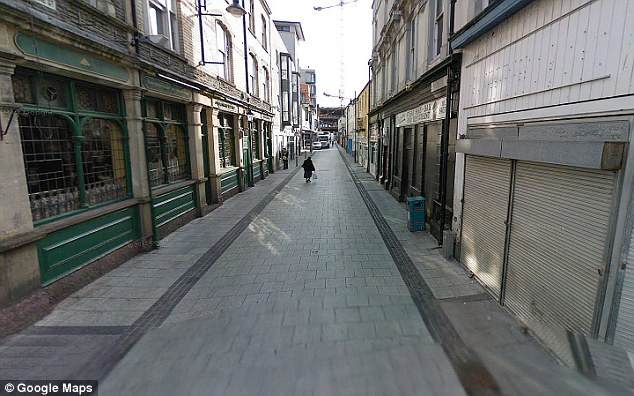 'Chippy Lane': Caroline Street in Cardiff, where the alleged fight took place on Monday morning