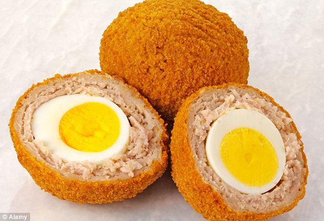Stolen: Police have put out an appeal to find a woman who shoplifted a packet of Scotch eggs (file photo)