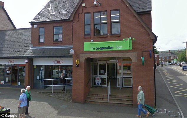 Target: The theft took place at the Co-Op supermarket in Minehead, Somerset