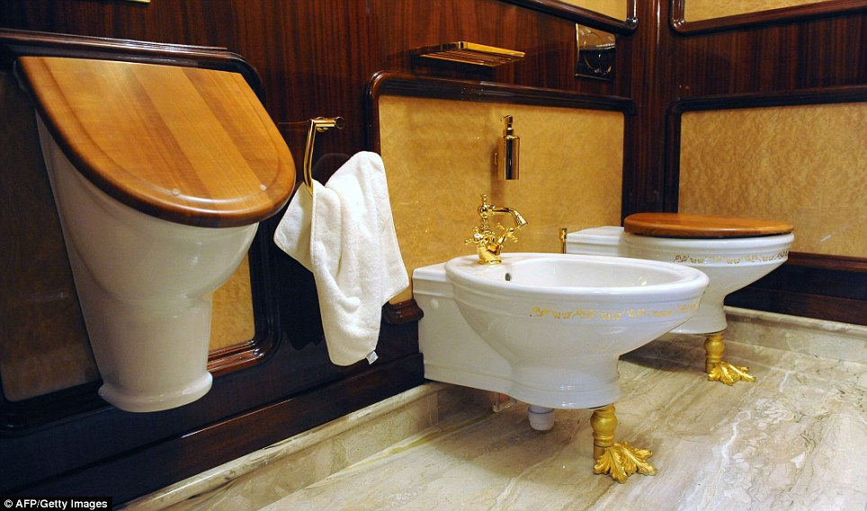 Gilded: Even the most functional of rooms boast gaudy fixtures