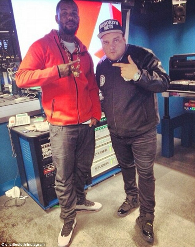 Digging: The Game posed with DJ Charlie Sloth on Instagram after their chat