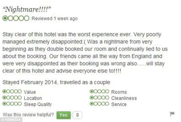 Negative: The original review read: 'Stay clear of this hotel was the worst experience ever. Very poorly managed extremely disappointed:(