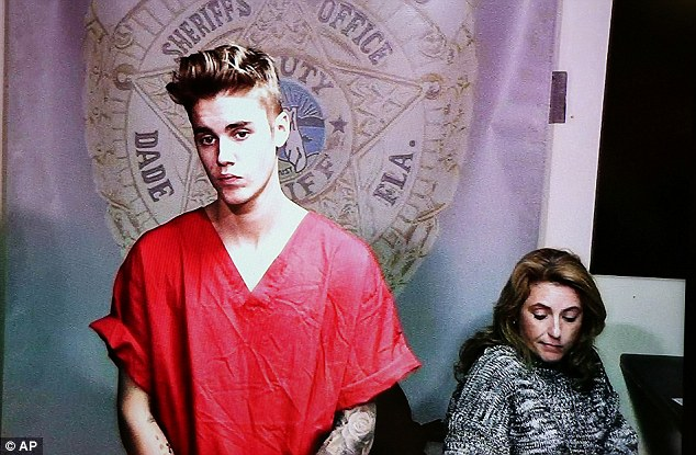 Innocent: The Canadian pop star has pleaded not guilty to charges of DUI, resisting arrest and having an invalid license