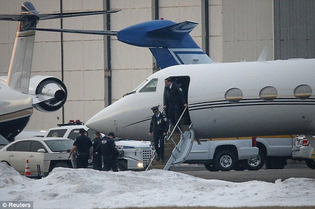 Flying high: Bieber and his father allegedly smoked weed on a private plane they took to the Super Bowl