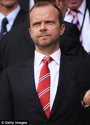Backing: United chief executive Ed Woodward is supportive of Moyes