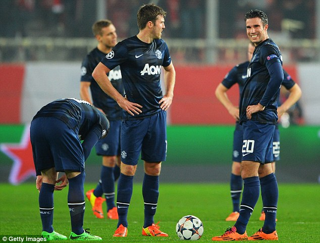 Not used to this: Manchester United will be hoping Tuesday's defeat to Olympiacos will be as bad as it will get