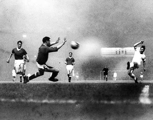 All-conquering: Ferenc Puskas (right) also featured in Real Madrid's superstar attacking line-up of the fifties