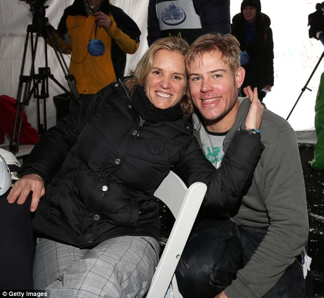 Aprez-ski cuddle: Trevor and Kerry,  here in Park City, Utah in 2012, are avid skiers. Trevor has also joined the Kennedy clan at their Hyannis Port, Mass. retreat and he's considered an honorary member of the family