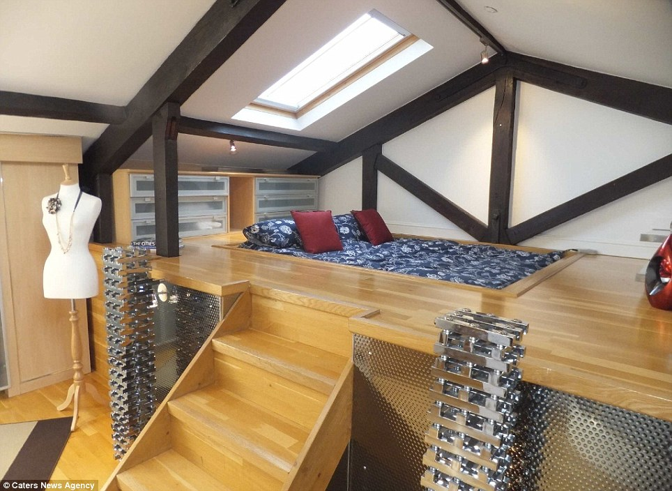 The bedroom of the church property seems takes design risks such as a raised and sunken bed, in order to be more appealing to a buyer who might want a conventional looking building with more unconventional fittings and furnishings