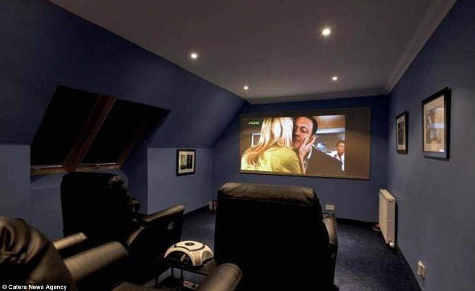 The property also has a cinema room for those who decide that going to the cinema is too expensive after they have paid £1 million for their house. The room is designed for a pleasurable viewing experience, with blacked out windows and a giant projector that allows for a cinema style viewing expeirence