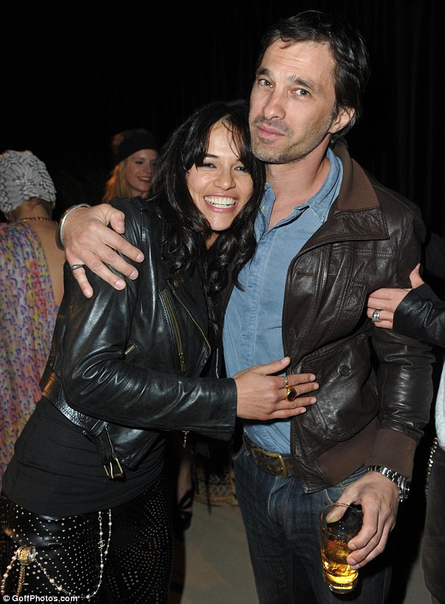 Ex-love: Michelle Rodriguez was also said to have dated her S.W.A.T co-star Olivier Martinez. The actor is now married to Halle Berry