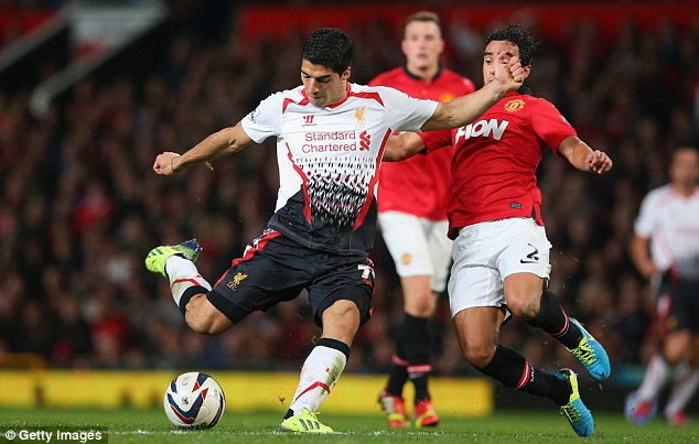 Big stage: Suarez will wear the new adidas boots for the first time at Old Trafford on March 16