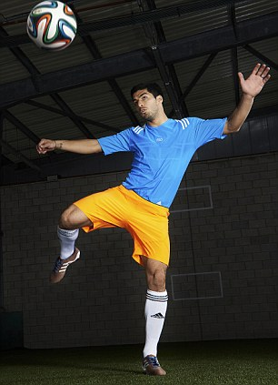 Up and away: The boot that Suarez will wear will cost £200
