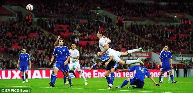 It's been a while: Carroll last played for England in a victory over San Marino back in October 2012