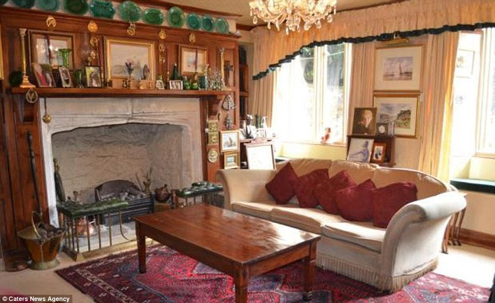 With nine bedrooms and several reception rooms, the property would be perfect for entertaining guests who have similar tastes around a roaring fire on a cold winter's evening. The ceilings are low and the windows are small, meaning a very insulated place that could cut down on costs to heating