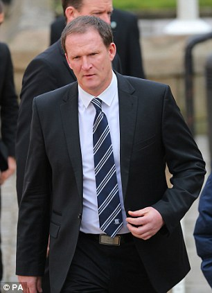 Man in charge: Current Preston manager Simon Grayson arrives for the service