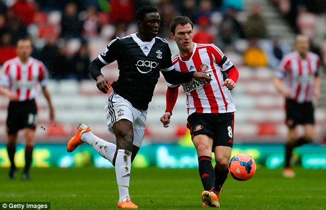 Options open: Southampton's Victor Wanyama (left) is also on Manchester City's radar