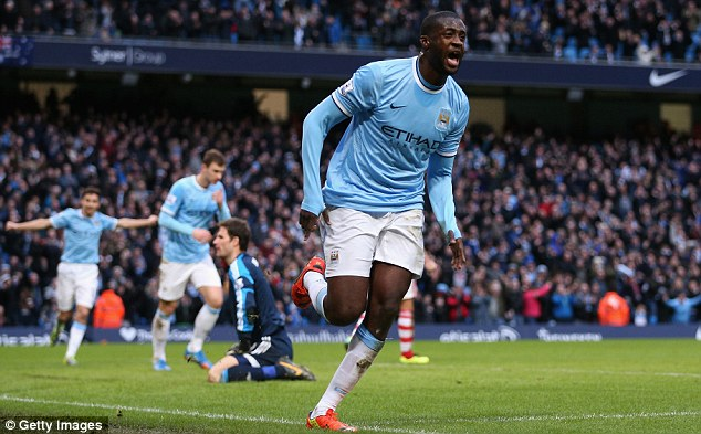 Familiar face: City midfielder Yaya Toure is a team-mate of Tiote on international duty with the Ivory Coast