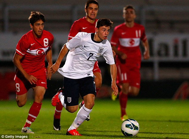 Grabbing his chance: Fulham kid Patrick Roberts is also attracting attention with his England displays