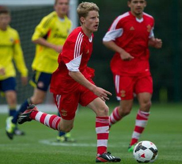 High hopes: Southampton youngster Josh Sims has looked good on England duty in Portugal