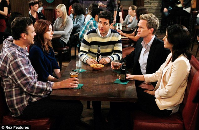 And that's a wrap: Alyson's show How I Met Your Mother - which also stars (L-R) Jason Segel, Josh Radnor, Neil Patrick Harris and Cobie Smulders - is finishing filming this week after being on the air since 2005