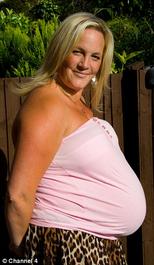 Nearly there: Zoe says she enjoyed a wonderful pregnancy until being diagnosed with diabetes