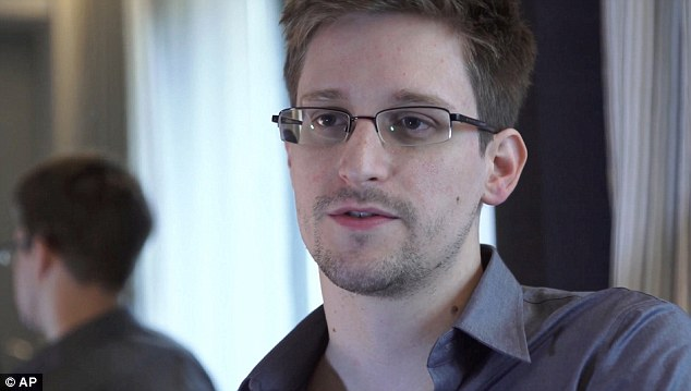 Ongoing: In its latest report on files leaked by US whistleblower Edward Snowden (pictured), the Guardian newspaper claims a surveillance programme collected still images of Yahoo webcam chats