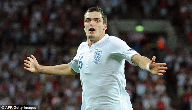Three Lions: Johnson will be hoping to impress England boss Roy Hodgson in time for the 2014 World Cup
